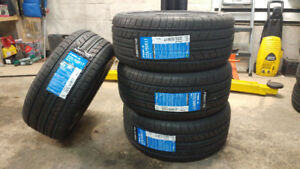 4 new 225/50R17 summer tires, $420 for 4