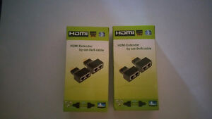 NEW in the box, HDMI Extender by Cat5e/6 cable Adapters