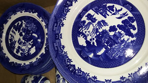 Royal traditions blue willow dinnerware for sale