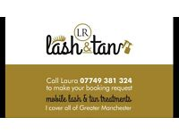 MOBILE LVL EYELASH AND SPRAY TANS
