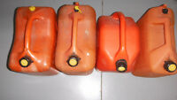 Assorted CLEAN Gas cans with pour spouts -like new
