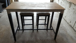 Stool and Table 3-piece set