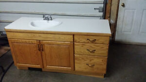 "Solid 3/4"" bathroom/laundry vanity"