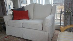 Beautiful high end sofa and loveseat