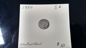 Newfoundland 5 cent coins from                        the 1800's