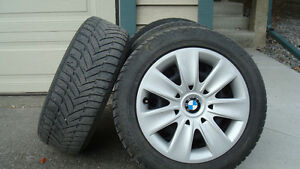 BMW 323i Dunlop Run Flat Winter Tires/ Rims and Covers