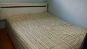 white double bed for sale