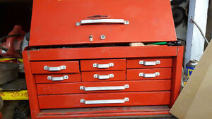 Beach and snap on tool filled boxes big & small & Machinery and