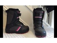 Ladies size UK 4.5 vans snowboarding boots. Extra metal lace added. Great condition