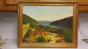 Antique listed Canadian artist Audrey Mabee oil painting