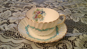 FINE BONE CHINA CUP AND SAUCER, MINTON, ENGLAND