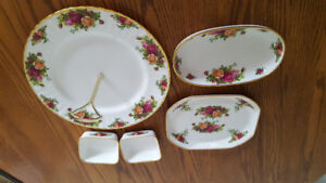 Royal Albert Country Rose desert and candy dishes