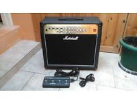 Marshall AVT 100 1x12 combo for sale including foot pedal and Marshall cover