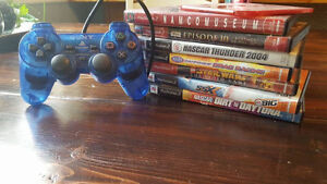 PS2 Games & Controller