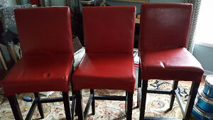 Genuine leather bar stools