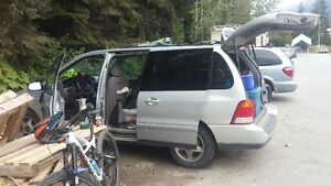 for sale minivan for camping.