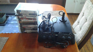 PlayStation 3 with controllers, games, and a headset $300(obo)