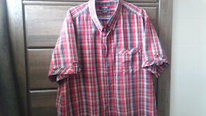 Men's red plaid shirt size 2xl