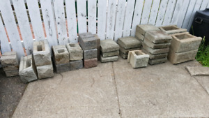 Assortment of landscape concrete