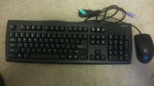 Desktop Keyboard and Mouse – Black (PS/2)