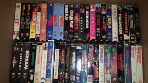 Selling collection of VHS tapes