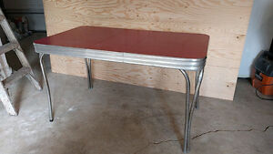 50s Red Chrome Kitchen Table