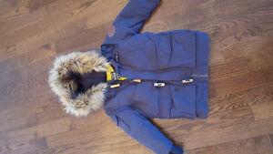 Navy blue Woolrich winter coat