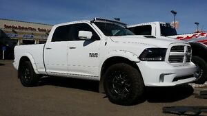 2015 RAM 1500 SPORT LEVELING KIT, RIMS, TIRES FLARES & LIGHT BAR