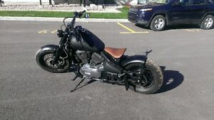 Kawasaki Vulcan 800 custom Bobber (banc passager clip-on)