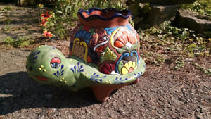 """Pottery Turtle Planter from Mexico """"Ceramex"""""""