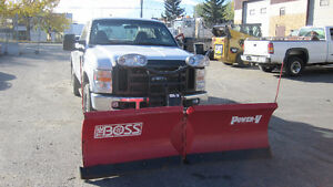 2008 Ford F-350 Pickup Truck and SNOW PLOW BOSS