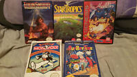 6 Boxed nes and sega genesis games cleaned tested nintendo