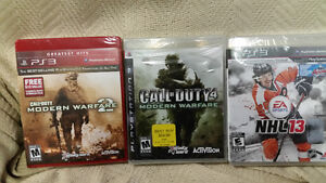 PS3 Call of Duty MW 2 & 3 New
