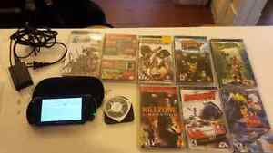 Playstation Portable with 9 games