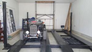 110v parking lift stationnement ont elevateur Machine à tire