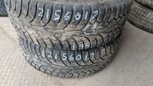 Pair of 2 Nokian Nordman5 215/60R17 WINTER tires (65% tread life