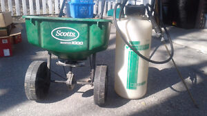 Seed spreader and spray tank