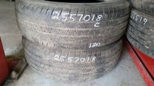 Pair of 2 Michelin LTX MS 255/70R18 tires (60% tread life)