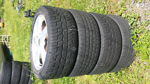 """4 17 """" Mazda tires and rims"""
