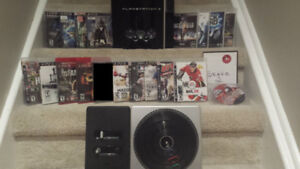 **** Great 80 GB PS3 Bundle All Cords Controller 18 Games ****