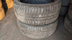 Pair of 2 Michelin Xice Xi3 225/40R18 WINTER tires (70% tread li