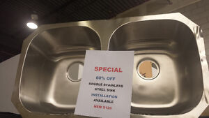 DOUBLE STAINLESS STEEL SINK NEW 60% OFF