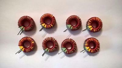 Zp20 Lot Of 8 Pcs Vertical Toroid Coil Inductor 2-pin Th Mount
