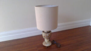 Solid Marble Lamp (Antique) $50 NICE !