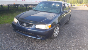 Toyota corolla 2002 ce safety and e-test