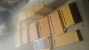 Oak kitchen cabinet fronts and drawers