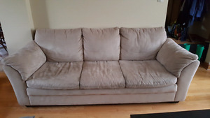 Two Beige Couches