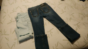 Size 28 Miss Me Jeans and size 28 Bluenotes. Both skinny jeans