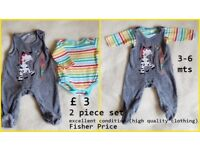 Very good condition 3-6 mts BOY / UNISEX CLOTHES/ over 40 items