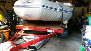 4x8' Foldable utility (or boat) trailer - almost new - save $$